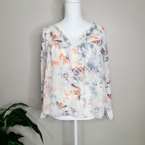 Rebecca Taylor Abstract Blouse Small 2